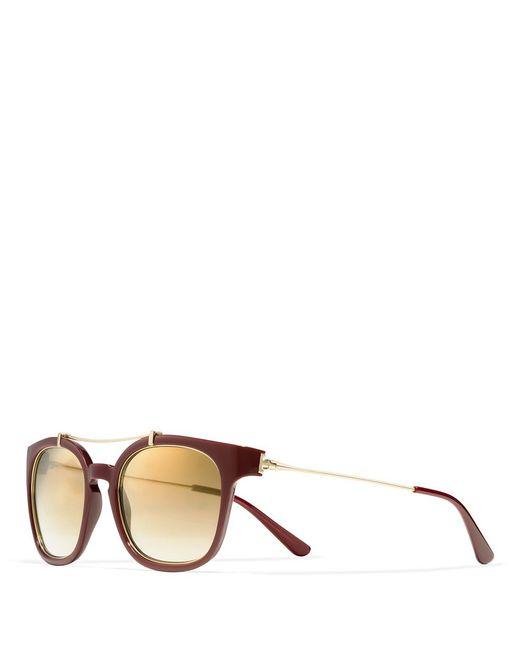 Tory Burch | Brown Metal Brow-bar Sunglasses | Lyst