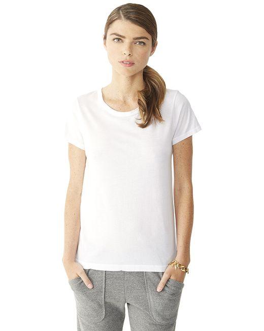 Alternative Apparel | White Vintage Garment Dyed Crew T-shirt | Lyst