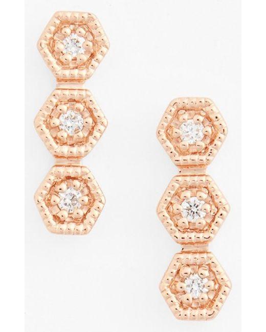 Dana Rebecca | Metallic 'kathryn Lynn' Diamond Drop Earrings | Lyst