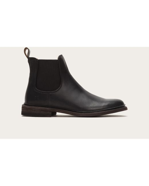 Frye   Black James Leather Chelsea Boots for Men   Lyst
