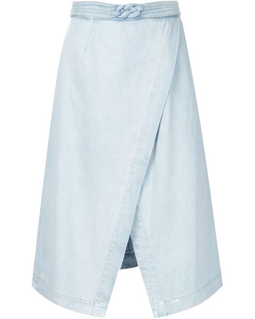 sea a line wrap skirt in blue save 50 lyst