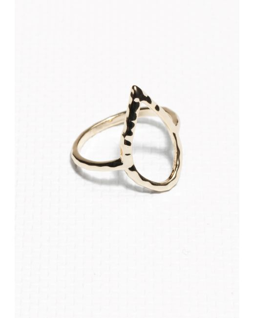 & Other Stories | Metallic Drop Cut-out Ring | Lyst