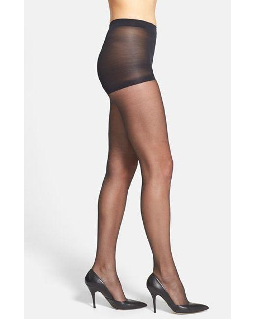 Calvin Klein | Black 'ultra Bare - Infinite Sheer' Control Top Pantyhose | Lyst