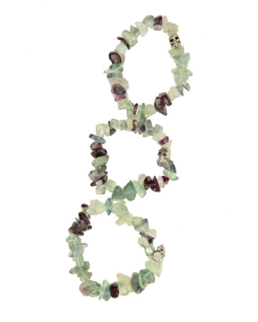Duchess Of Malfi | Multicolor Fluorite Large Stone Skull Bracelet | Lyst