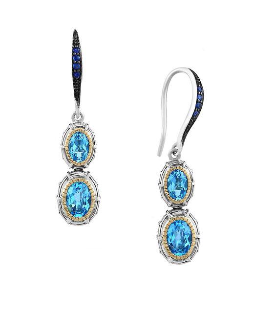 Effy | Ocean Blue Sapphire And Blue Topaz Drop Earrings | Lyst