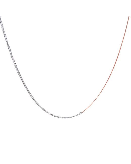 Dutch Basics | Metallic Interlinked Chain Necklace Rose Gold | Lyst
