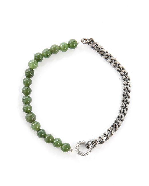 Gilbert Gilbert | Hen 20 Green Jade Stones And Silver Bracelet | Lyst