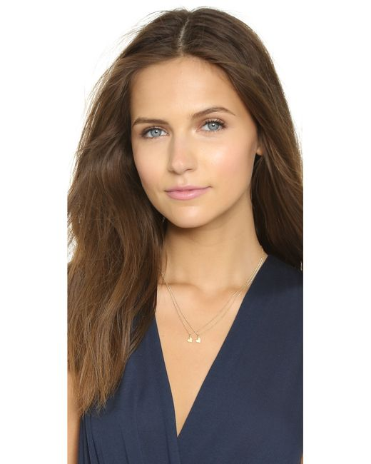 Dogeared | Metallic Mother & Daughter Little Heart Charm Necklace Set | Lyst