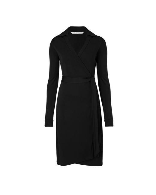Diane von Furstenberg   Black Jeanne Jersey Wrap Dress   Lyst