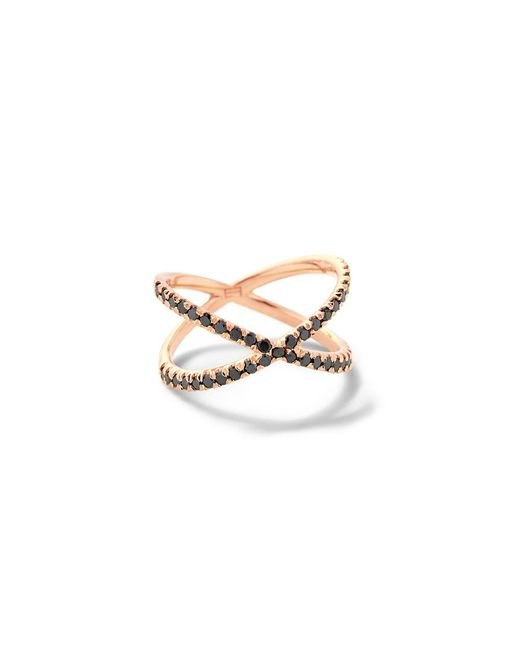 Eva Fehren - Pink Shorty Ring With Black Diamonds - Lyst