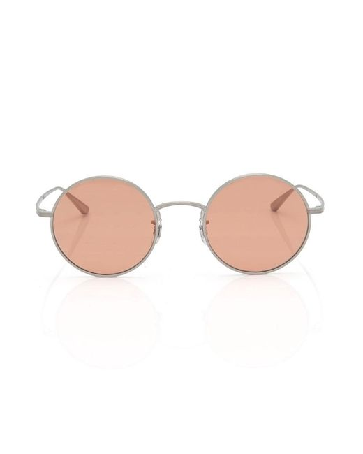 Oliver Peoples - Metallic After Midnight Sunglasses In Brushed Silver - Lyst