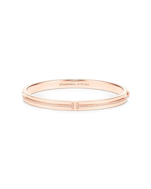 Tiffany & Co | Metallic Tiffany T Collection - Two Hinged Bracelet | Lyst
