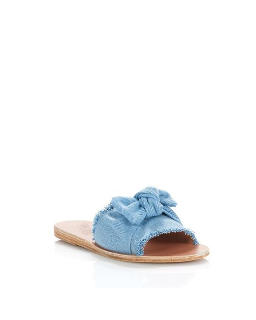 f08c2d95c235a ... Ancient Greek Sandals - Blue Taygete Bow Sandals In Light Denim - Lyst  ...