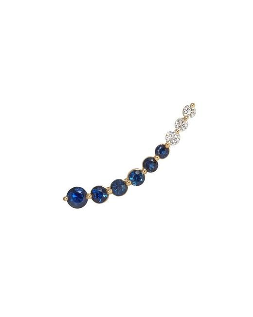 Anita Ko | Floating Diamond And Blue Sapphire Earring | Lyst