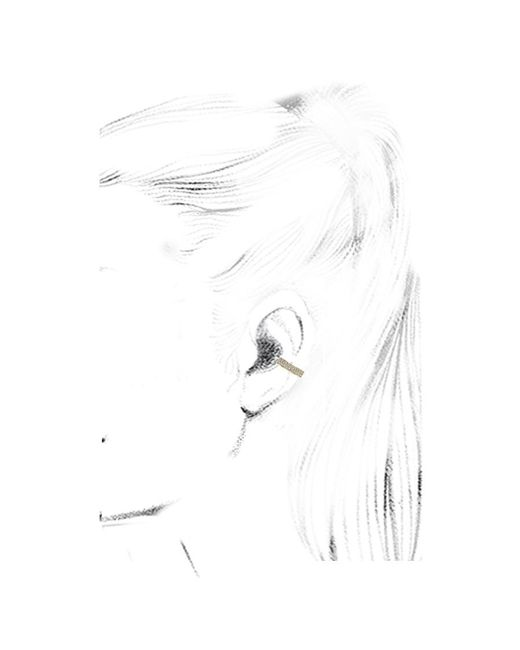 Anita Ko | Metallic Gold Double Row Diamond Ear Cuff | Lyst