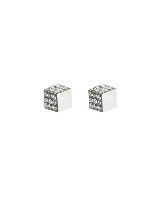Eddie Borgo | Metallic Pavé Cube Studs In Silver | Lyst