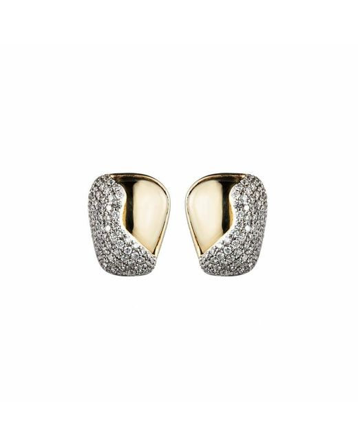 Kara Ross | Metallic Petra Contour Stud Earrings | Lyst