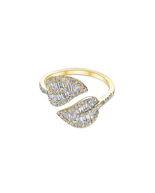 Anita Ko | Metallic Yellow Gold Leaf Ring | Lyst