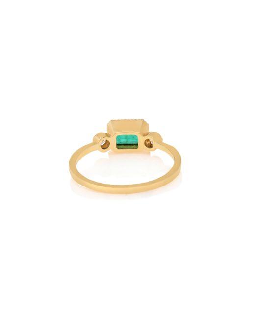 Jennie Kwon | Green Emerald Lexie Ring | Lyst