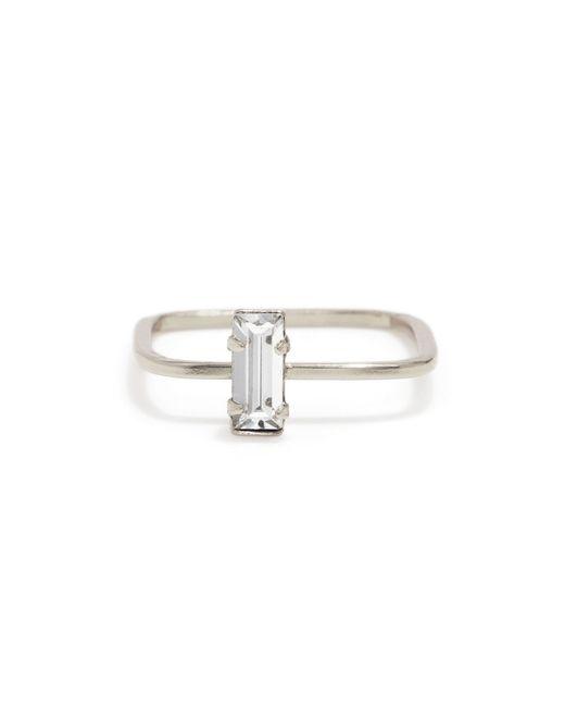 Bing Bang | Metallic Balancing Baguette Ring | Lyst