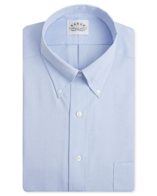 Eagle men 39 s big tall classic fit non iron pinpoint dress for Mens pinpoint dress shirts