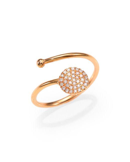 Diane Kordas | Diamond & 18k Yellow Gold Circle Wrap Ring | Lyst