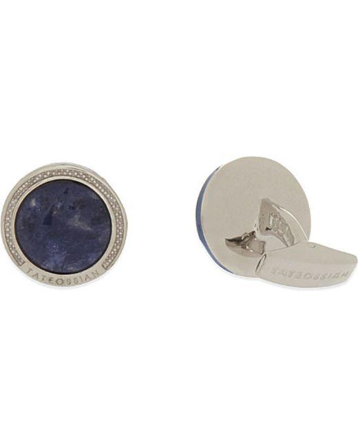Tateossian   Blue Sodalite Silver Cufflinks, Men's for Men   Lyst