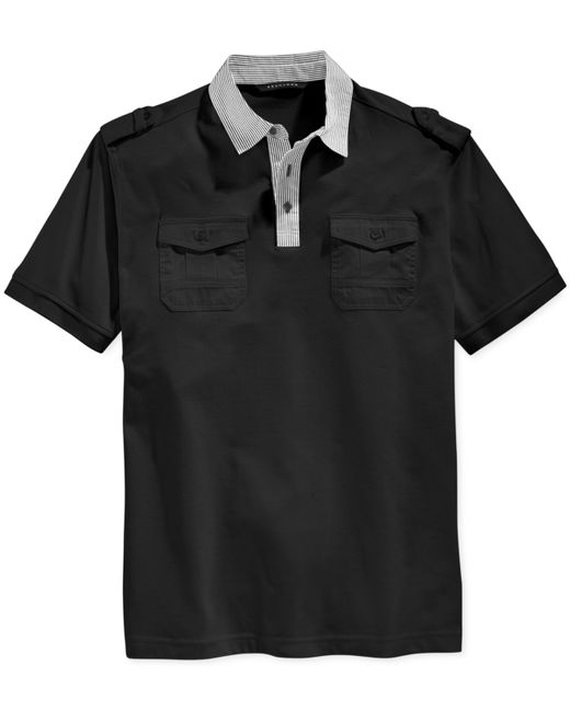 Sean john men 39 s islander polo shirt in black for men lyst for Sean john t shirts for mens