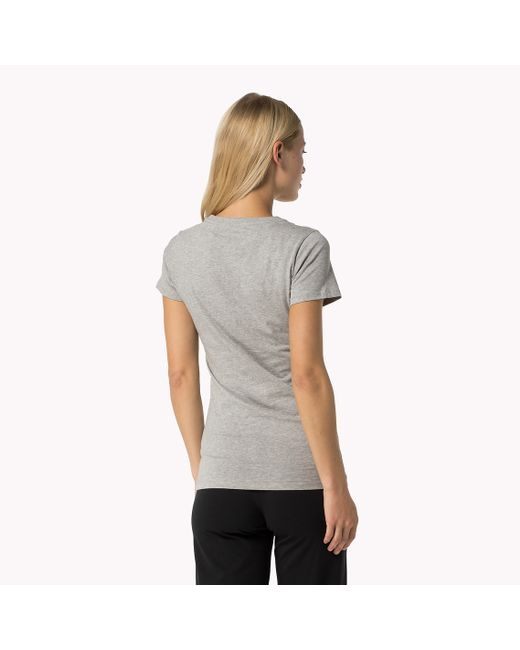 Tommy Hilfiger | Gray Iconic T-shirt | Lyst