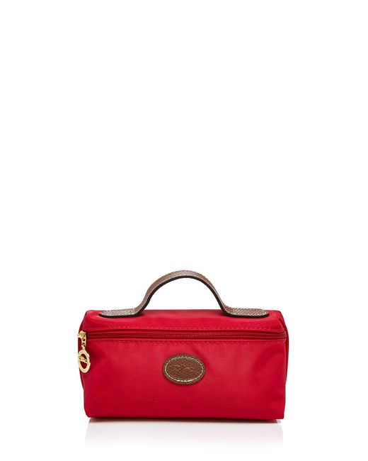 Longchamp | Red Cosmetic Case - Le Pliage | Lyst
