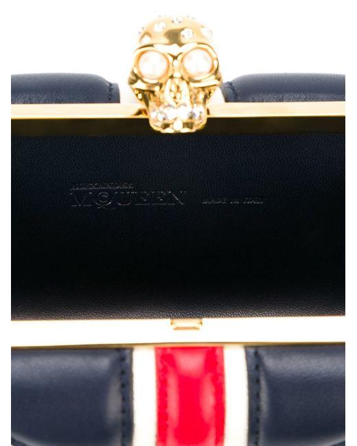 Alexander McQueen | Red 'britannia Skull' Box Clutch | Lyst