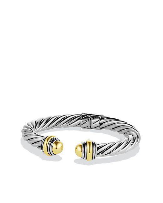 David Yurman | Metallic Cable Classics Bracelet With 14k Gold, 8.5mm | Lyst