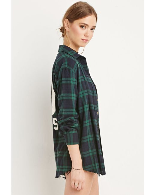 Forever 21 | Green 00 Rules Plaid Flannel | Lyst
