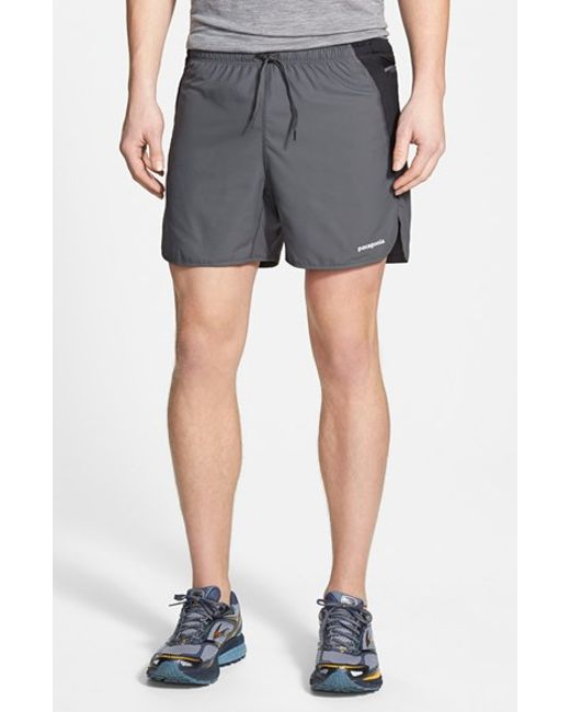 Patagonia | Gray 'strider Pro' Stretch Woven Running Shorts for Men | Lyst