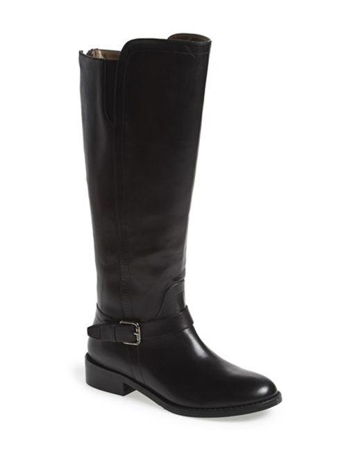 Bella Vita | Black Tall Riding Boot | Lyst