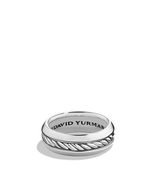 David Yurman | Black Cable Classic Band Ring for Men | Lyst