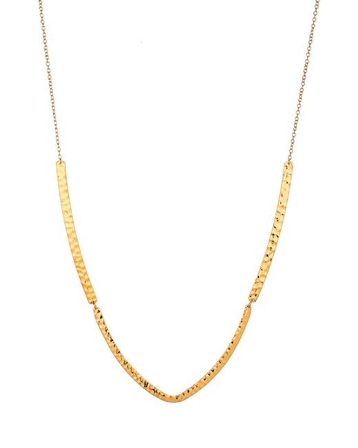 Gorjana | Metallic Amanda Hammered Pendant Necklace | Lyst