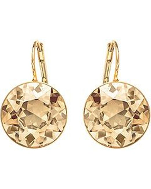 Swarovski | Metallic Bella Pierced Earrings | Lyst