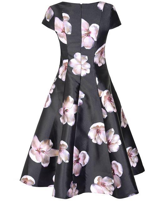 True Decadence   Black Floral Printed Prom Dress   Lyst