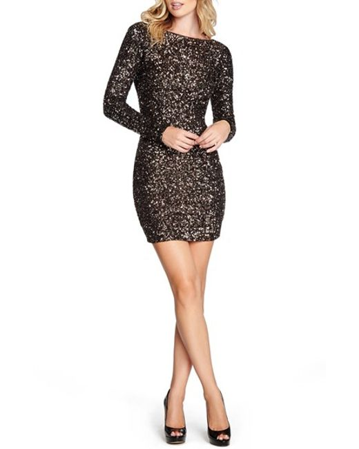 Dress the Population | Metallic 'lola' Sequin Body-con Dress | Lyst