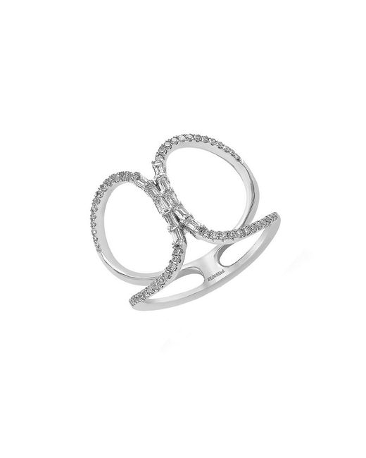 Effy Classique Diamond And 14k White Gold Cutout Ring In