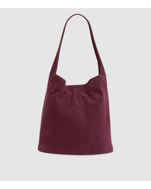 Eileen Fisher Multicolor Italian Suede Hobo Bucket Bag Lyst