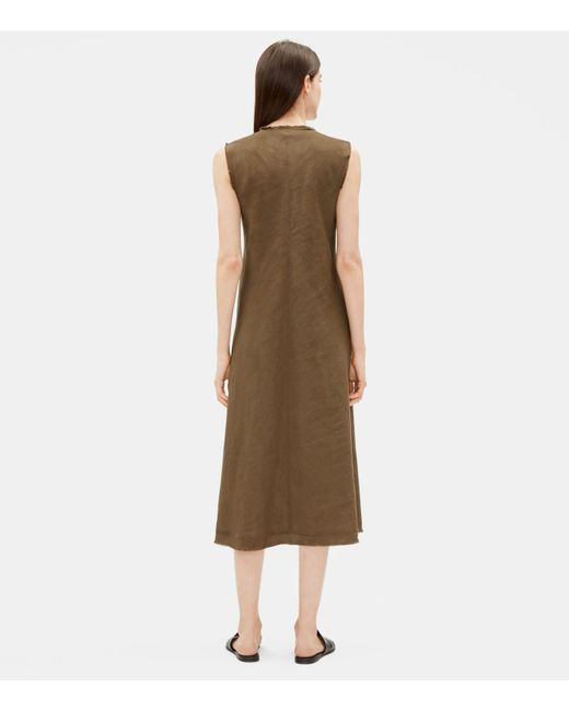 88011522e4 ... Eileen Fisher - Multicolor Organic Handkerchief Linen Raw-edge Dress -  Lyst ...