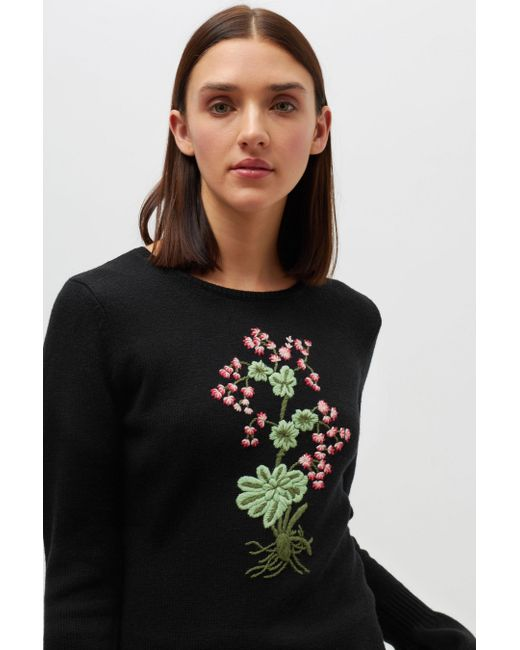 Altuzarra | Black Bovary Knitted Sweater | Lyst