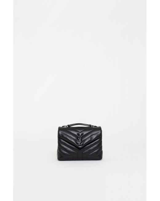 f3fe6e3c2 Saint Laurent - Black Monogram Loulou Bag - Lyst ...
