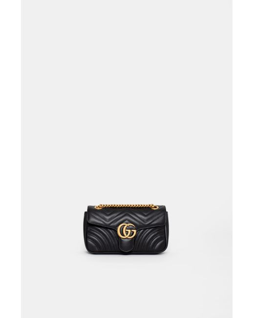 e8f6eeb3788 Gucci - Black GG Marmont Matelasse Shoulder Bag - Lyst ...
