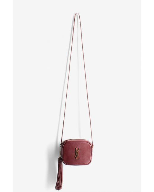 Saint Laurent | Red Monogram Blogger Bag | Lyst