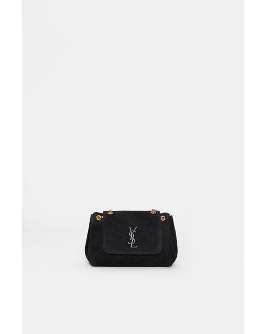 ff4fd44b17b2 Saint Laurent - Black Small Nolita Suede Bag - Lyst ...