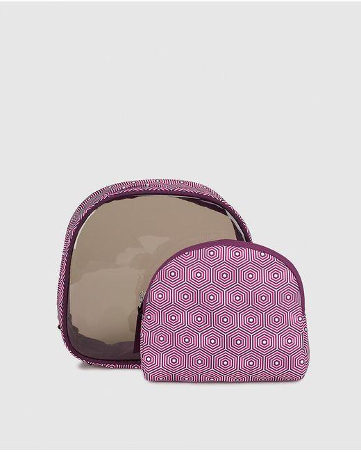 El Corte Inglés - Purple Printed Toiletry Bag With Zip - Lyst