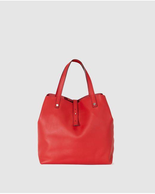 Gloria Ortiz - Sofia Small Red Leather Shopper Bag - Lyst